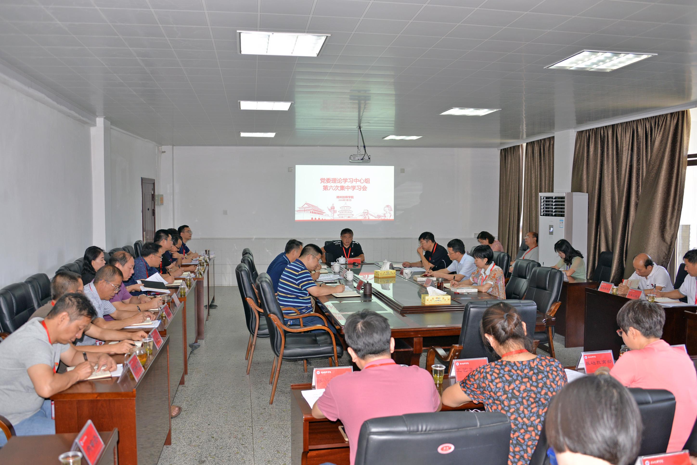 学院党委理论学习中心组开展第六、七次集体学习